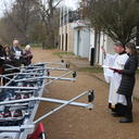 Blessing the new women's boat