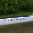 A newly refurbished rowing boat