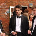 Schools' dinner: drinks in the garden
