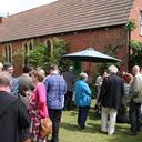Farewell garden party for Senior Tutor