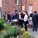 in the garden after formal hall