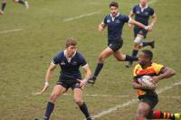 St Benet's student playing Blues rugby