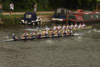 St Benet's Mens Eight successfully bumping in Summer VIIIs and achieving 'blades'